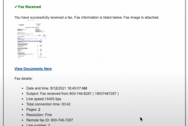 SharePoint Fax Email