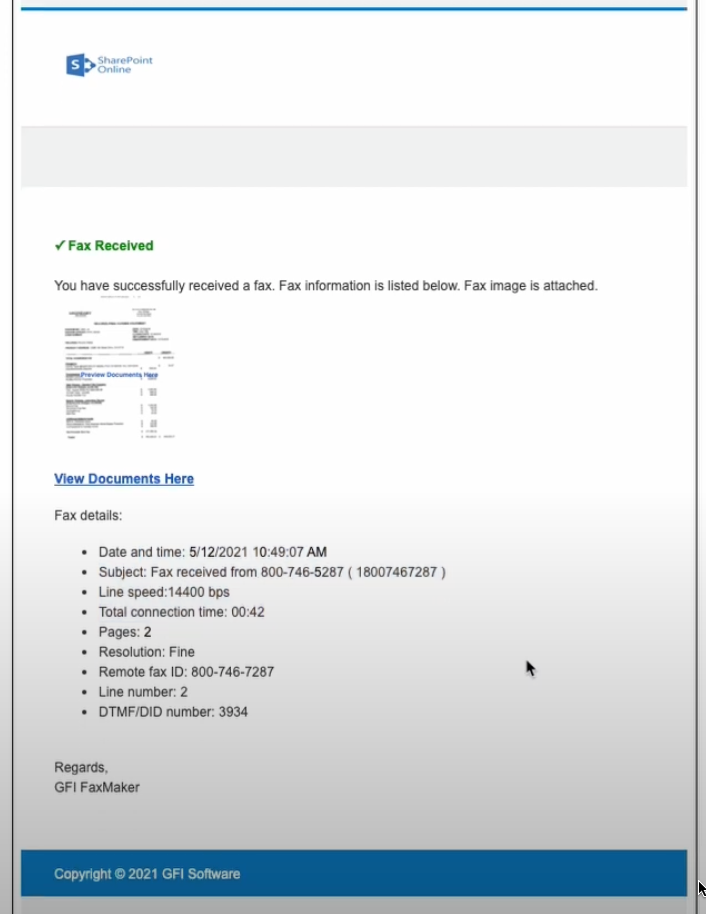 Is that SharePoint Fax email legitimate?