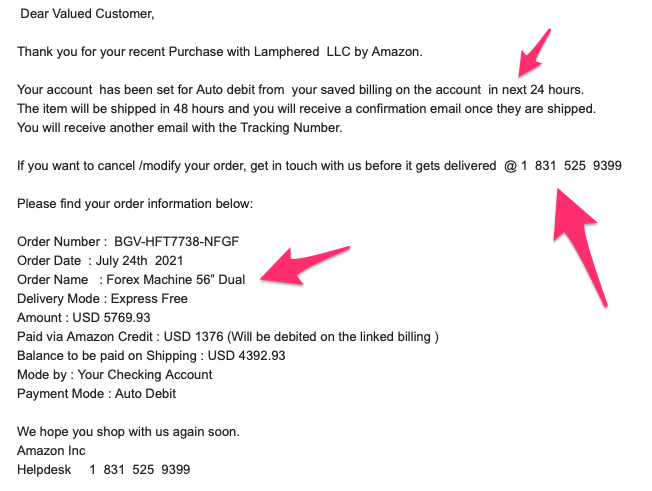Your order has been delivered < is this email legit?