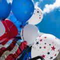 Balloons and US Flag