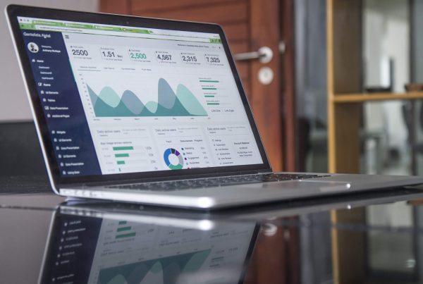 Blog Traffic - Google Analytics on Laptop Screen
